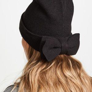 Kate Spade Black bow beanie